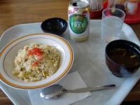 焼き飯+ノンアルビール
