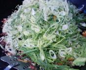 大量の葱を投入