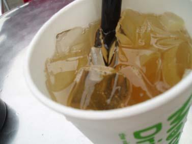 緑茶とココナッツジュース