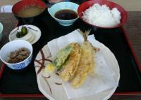 地鯵天ぷら定食