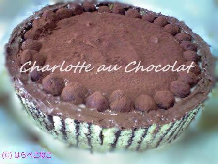 チョコレートのシャルロット
