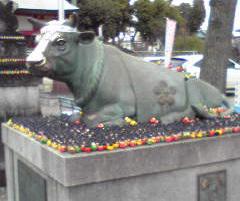 上野天満宮の牛