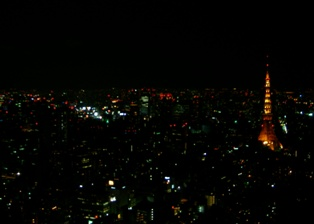 展望台からの東京タワー