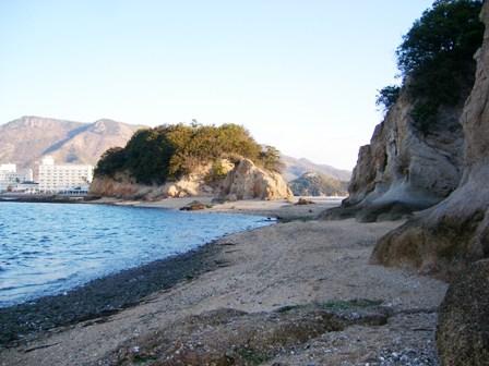 中余島から小豆島を振り返ったところ