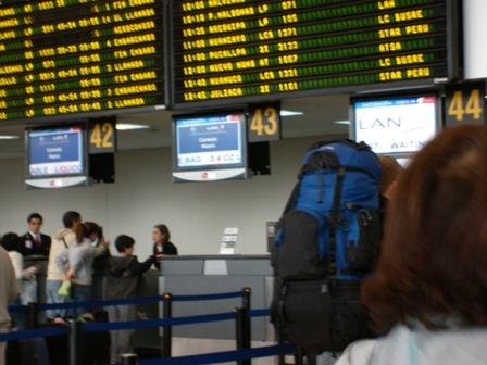 朝から賑わう空港