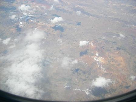 アンデス山脈通過中 リマ→クスコ