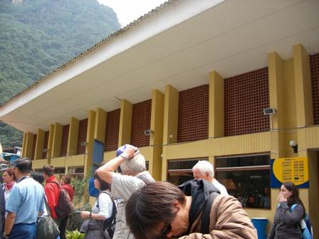 マチュピチュ駅・・ではなく、アグアス・カリエンテス駅