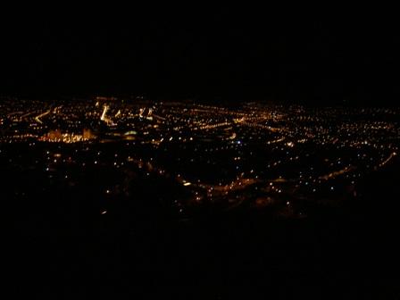 クスコ市内の夜景