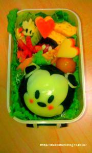 8月5日(金)べいびーみっきー弁当:どんぶり(*゚д゚)「ミッキーがバラバラに!?」