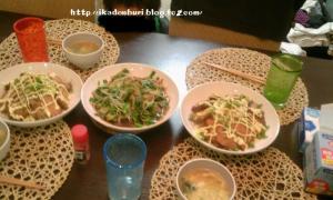 ニラレバ炒め 焼き豚 ワカメたまごスープ(叉焼の煮汁で♪)