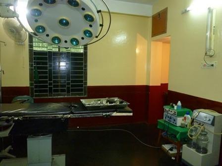 Srimangalの私立病院の手術室