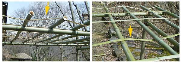 押さえ用の割り竹