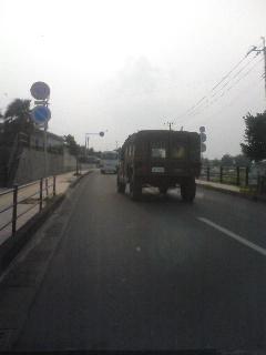 自衛隊の車両
