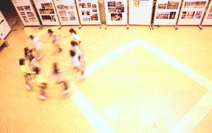 一輪車 写真展と演技
