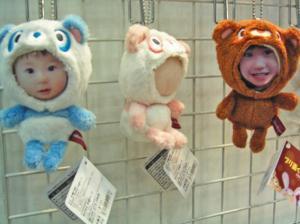 子供の顔写真入り着ぐるみ人形