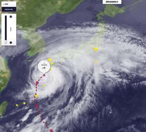 台風衛星写真にコメント