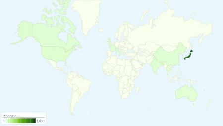 当ブログへのアクセス世界地図