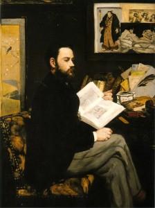 エドゥアール・マネ「エミール・ゾラ」1868年