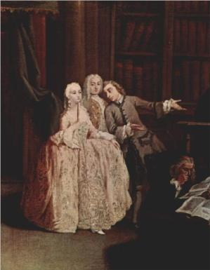 Pietro Longhi、visit-to-a-library