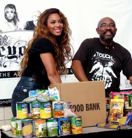 Food drive by Beyonce
