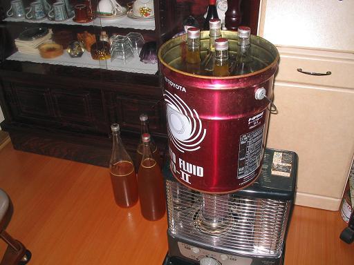 結晶蜜の湯煎