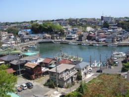 縮小版三崎城から見た湾内