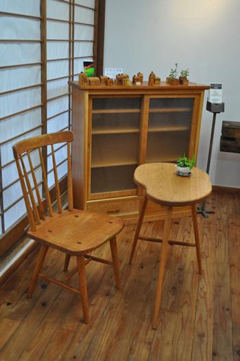 那須高原 注文家具工房じざい 小林康文の素材を生かす家具作り ひさぎ展示会
