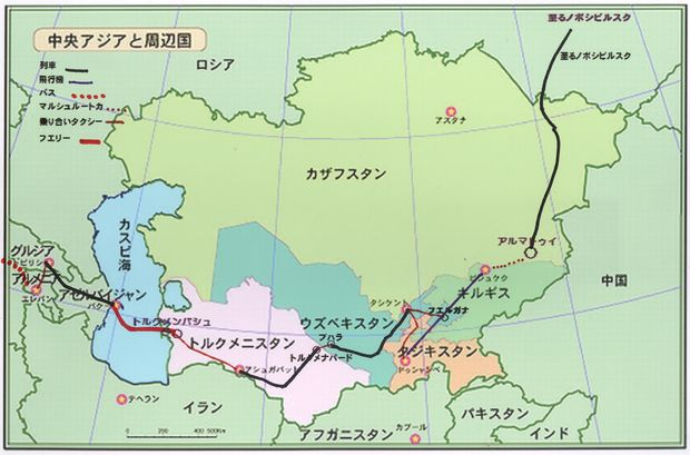 中央アジア地図-1