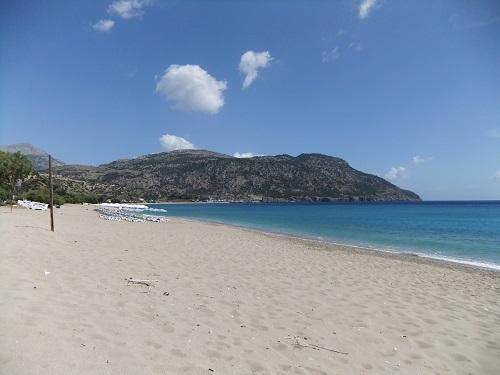 アギア・フォティニ近くのビーチ