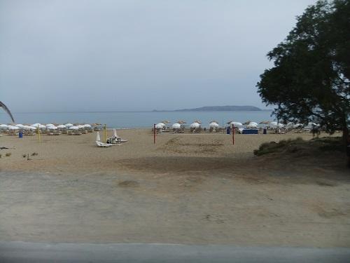 途中のビーチ