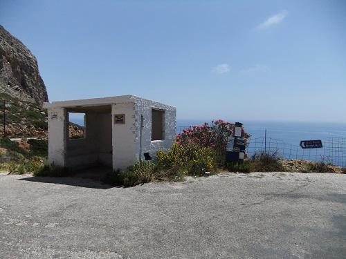 アモルゴス_修道院へのバス停