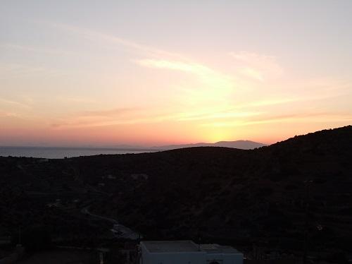 スヒヌサの夕陽
