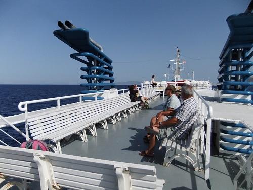ナクソスへ向かう船上