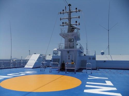 Blue Star 船上