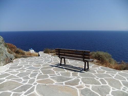 シフノス_カストロの集落から海を見る