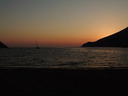 シフノス_カマレスの夕陽