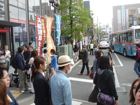 鎌倉駅前街宣_20110505-03
