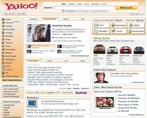 クリックで米Yahooへ