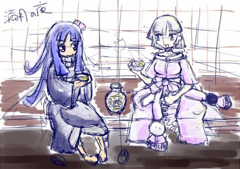 百蛇様と藍ちゃん