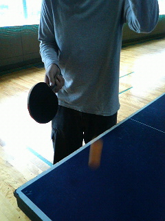 卓球の一風景