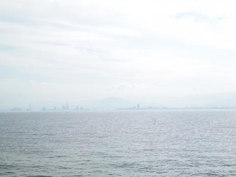 海ノ中道から福岡タワー方向…