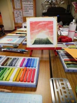 パステル画教室3
