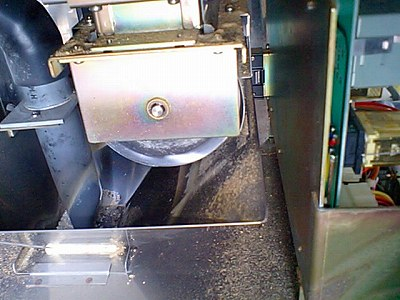 ライスミニ計米モーター裏側
