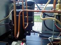 製氷機の配管の銅管