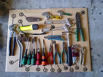 工具袋番号付