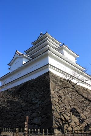 会津城天主斜め