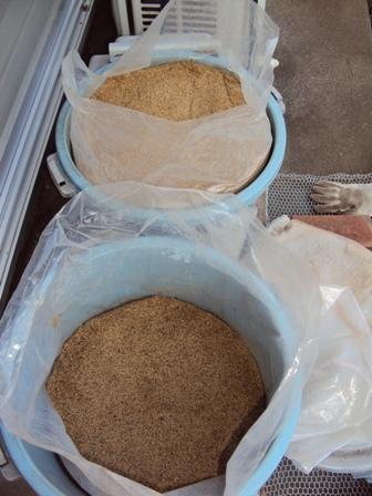 ボカシ肥(10月と12月仕込み)