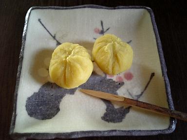 芋ようかんの茶巾しぼり