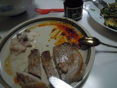 お肉もラー油