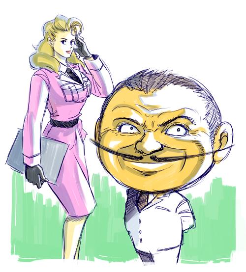 【落書き】大塚長官とミス・メロン